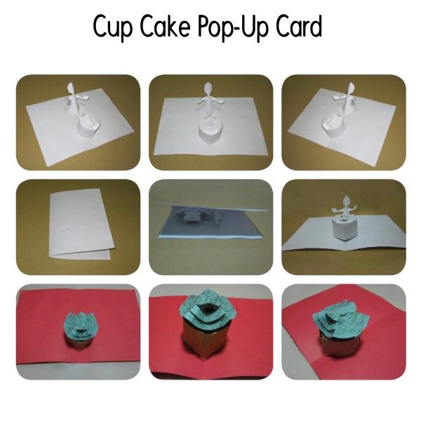 Kartu Pop-Up Berbentuk Cup Cake